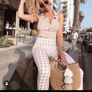 Mauve /  pink checkered pants
